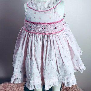 First Impressions 0-3m Vintage Smocked Dress